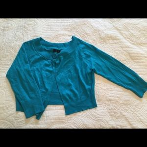 Express Turquoise Blue Cardigan. Size Small.
